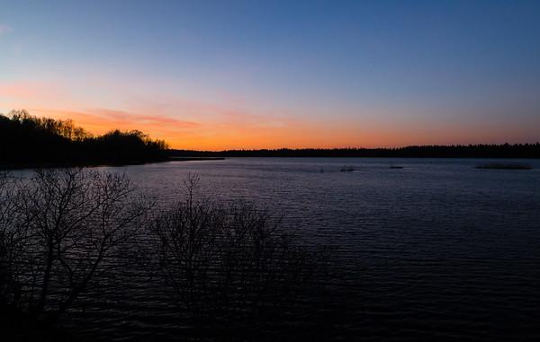 Solnedgång Åker