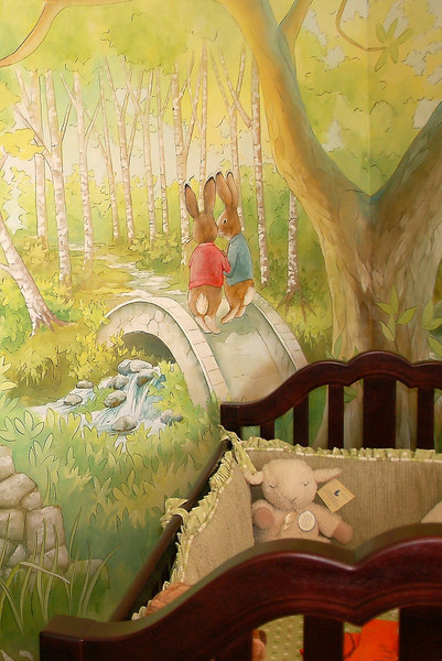detail from 'Peter Rabbit' nursery mural