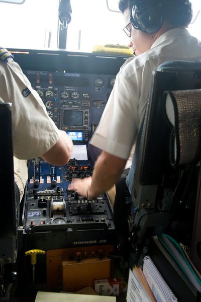 Taking off in the Dornier 228.