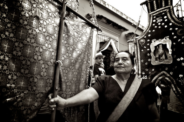 Good Friday Banner Bearer - Oaxaca, Mexico