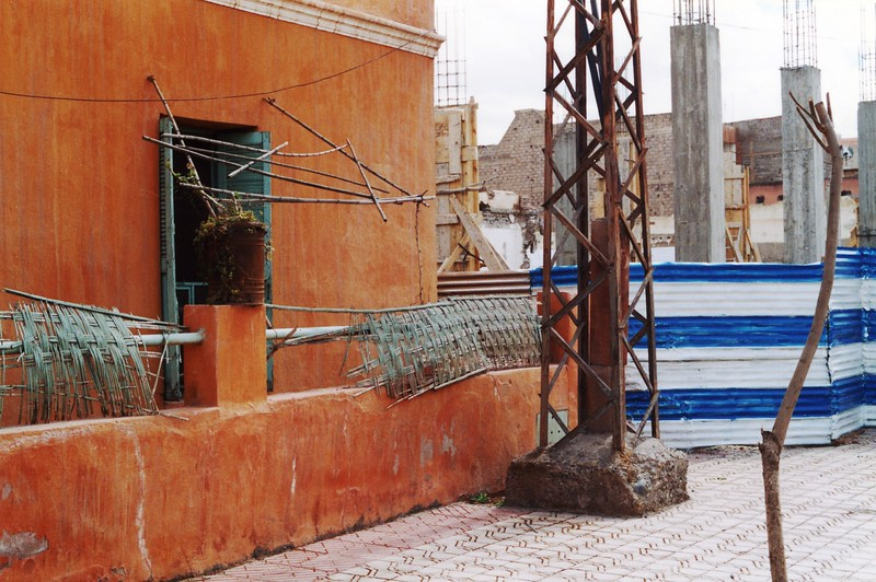 Dilapidated structures in Marrakesh, Morocco