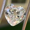 3.47ct Antique Heart Shaped Diamond GIA F SI2 3