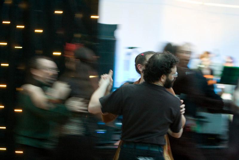 David Silber dancing at the Goblin Ball.