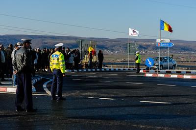 Road inauguration in Mioveni