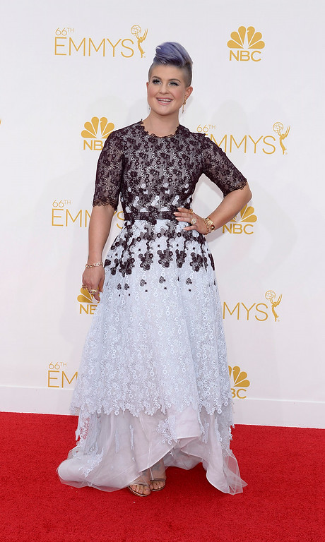 . Kelly Osborne on the red carpet at the 66th Primetime Emmy Awards show at the Nokia Theatre in Los Angeles, California on Monday August 25, 2014. (Photo by John McCoy / Los Angeles Daily News)