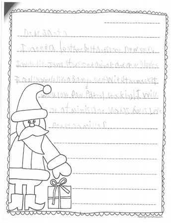 Mrs. Bryant's 2nd grade Letters to Santa, 12/14/2015