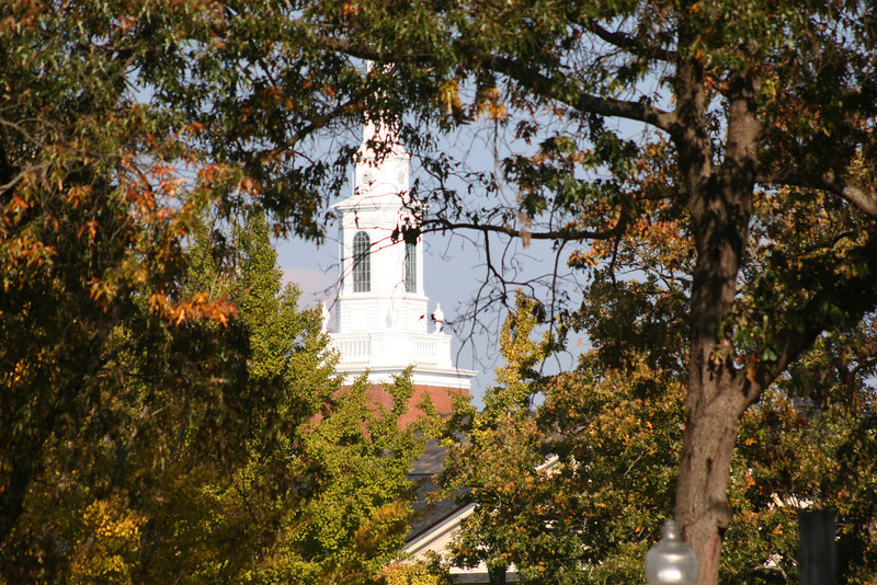 The Dover Memorial Chapel on a Fall day at Gardner-Webb University.