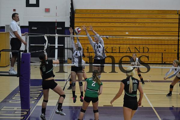 Lakeland volleyball vs. Rhinelander 10-19-13