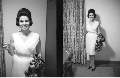 Martha all dressed up to go to town.  I forgot what the event was! Tokyo 1965-66