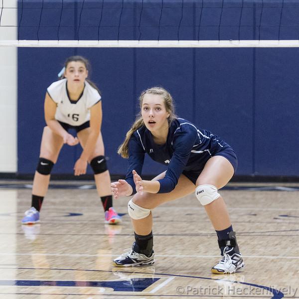 2015-10-01 Hillsdale Academy Varsity Volleyball vs. Camden-Frontier