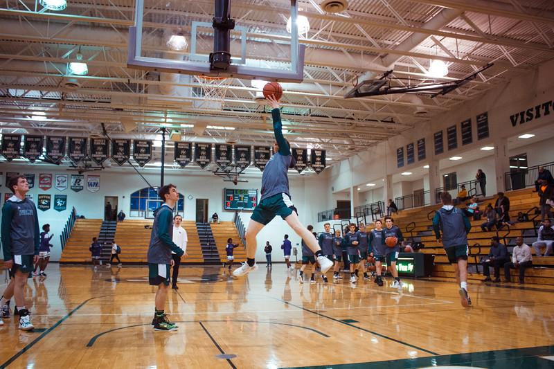 Holy Family Boys Varsity Basketball vs. Brooklyn Center, 12/5/19: Jacob Warmka '21 (24)