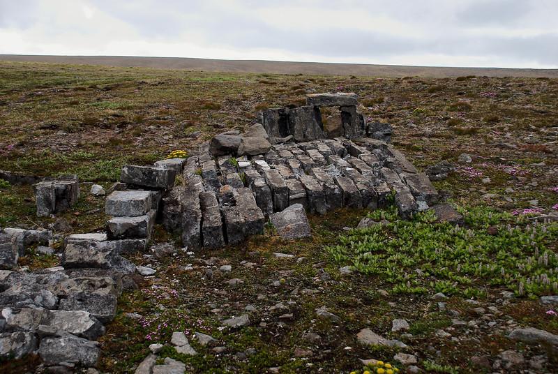Hér var hús sem hýsti spil og díselstöð sem dróu upp vagna upp hlíðina.