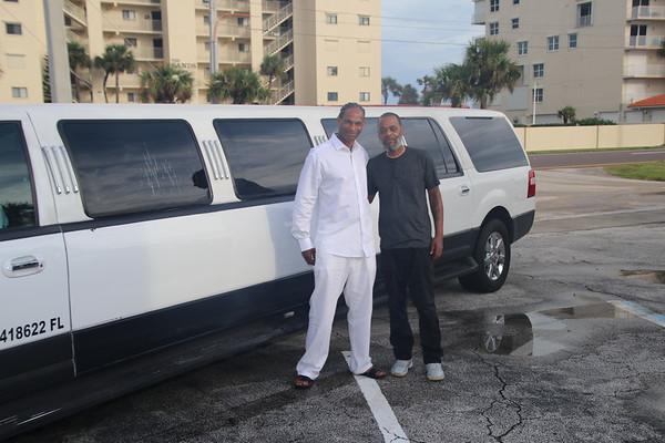 Demetrice and Delton's beach wedding at Cocoa Beach Weddings Surfside Wedding Chapel!