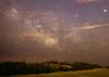 milky way, Sagittarius, Scorpius,clouds,mars,saturnn saturn