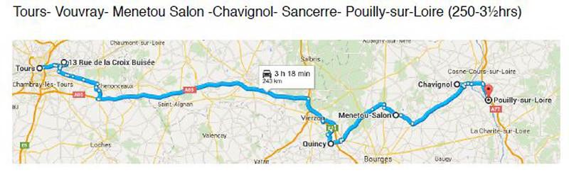31 August 2015 Tours-Vouvray-Menetou Salon-Chavignol-Sancerre-Pouilly-sur-Loire