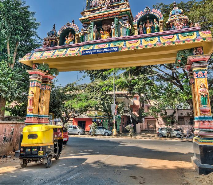 Rickshaw parked at gate-Bangalore India