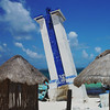 Lighthouse in Puerto Morelos destroyed by Hurricane Gilbert Sept 1993<br /> Yucatan, Mexico