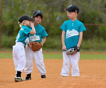 2009-03-08 - Tee Ball game - Jack and Dylan
