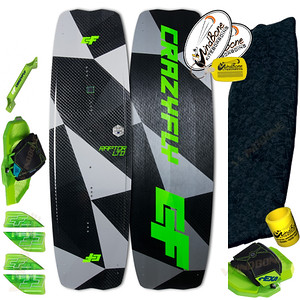2018 CrazyFly Raptor LTD Neon Carbon Kiteboard Twintip Pro Performance