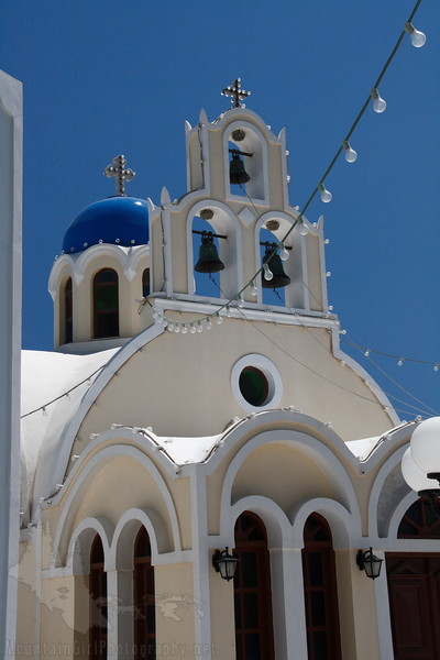 One of the many, many blue-domes churches.  This one is in Fira