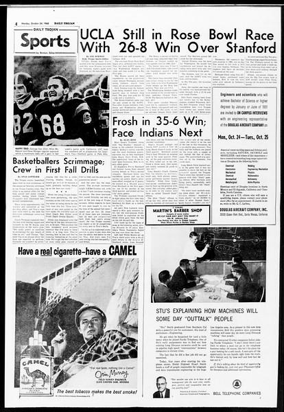 Daily Trojan, Vol. 52, No. 26, October 24, 1960