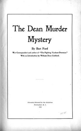 Dean Murder Mystery by Bert Ford