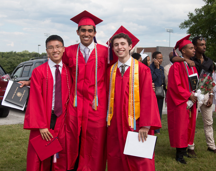 Alex Miao, Eshan Tewari, Noah Friedlander  - June 6, 2017 graduation from Montgomery Blair High School - Magnet Program for Math, Science, and Computer Science, Xfinity Center, University of Maryland, College Park.