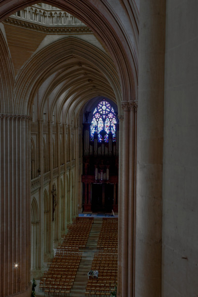 Coutances, Notre-Dame Cathedral Nave from the Clerstory