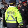 RCMP - Royal Canadian Mounted Police. Street police security at the 2009 Remembrance Day Ceremony in Ottawa, Ontario.<br /> <br /> © Rob Huntley