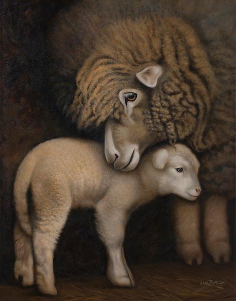 """""""Ewe & Me"""" (oil) by Lisa Lee"""
