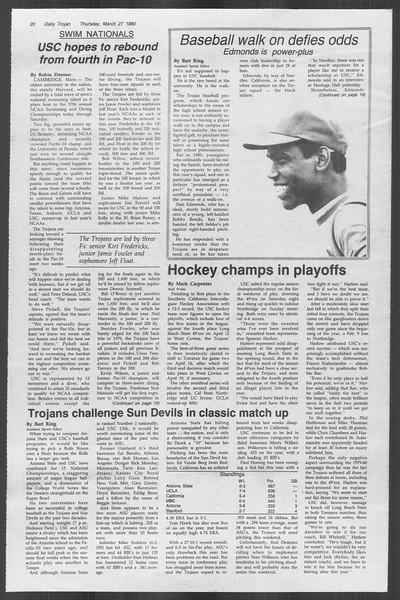 Daily Trojan, Vol. 88, No. 37, March 27, 1980