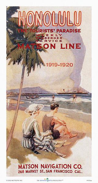 160: 'Honolulu, The Tourists' Paradise' Travel Brochure Cover, ca 1928.