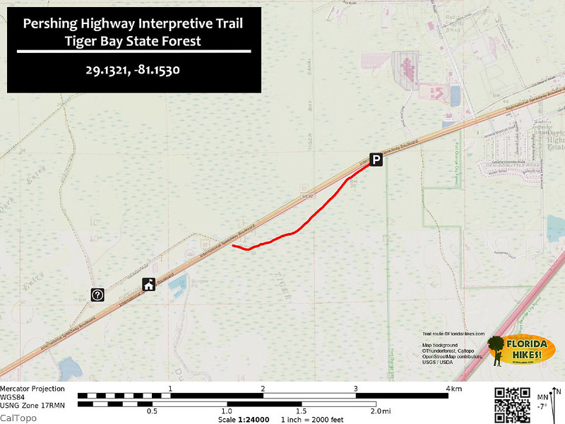Pershing Highway Trail Map