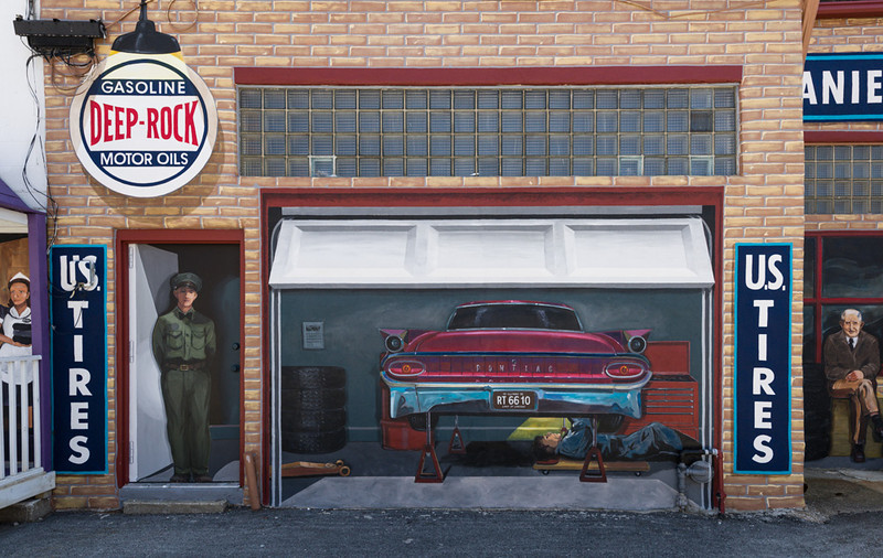 Wall Murals in Pontiac, IL on Historic Route 66