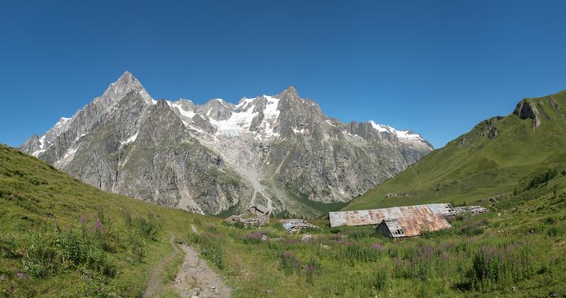 Le Grandes Jorasses - Val Ferret, Courmayeur, Aosta, Italy - August 8, 2016