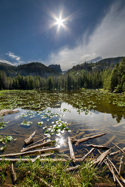 Nymph Lake in Rocky Mountain National Park