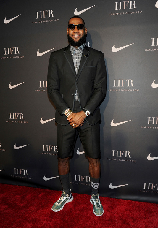 . Honoree LeBron James attends a fashion show and awards ceremony held by the Harlem Fashion Row collective and Nike before the start of New York Fashion Week, Tuesday, Sept. 4, 2018. (AP Photo/Diane Bondareff)