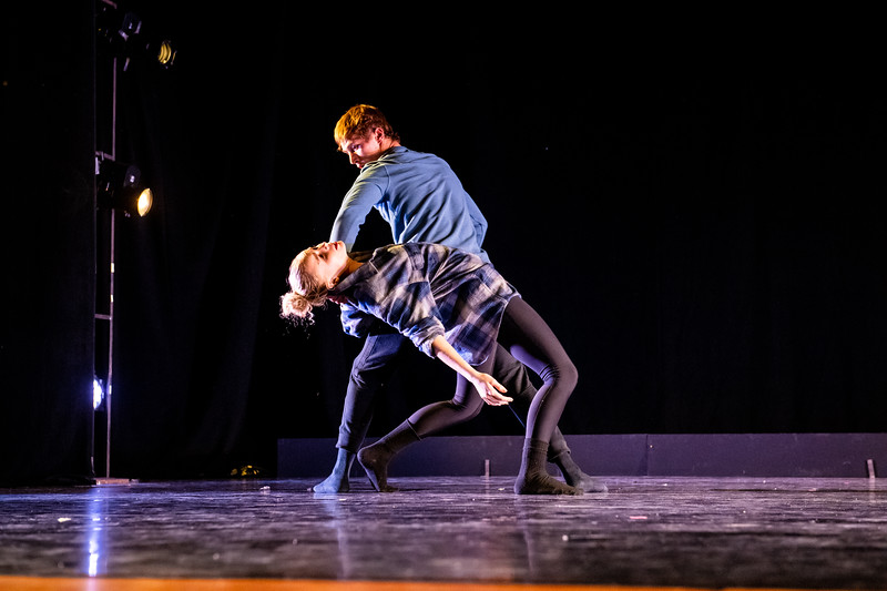 """""""Baggage Claim,"""" was choreographed and performed by Hayley Davison and Hayden McLelland in the fall 2018 Island Dance Demo."""