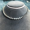 9.20ctw Victorian Riviere Diamond Necklace 9