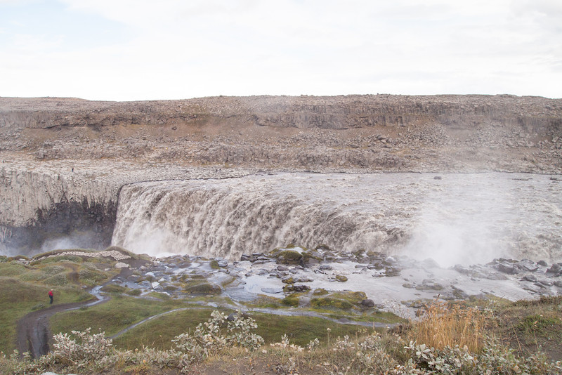 Next, we drove up to the Dettifoss waterfall on the west side