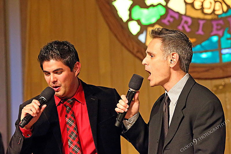 AMER-CMM 00064 Heritage Singers Kevin Dumitru and Miguel Verazas sing to a church audience by Peter J Mancus.JPG