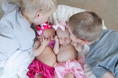 Schmid Family {1 month old twins}