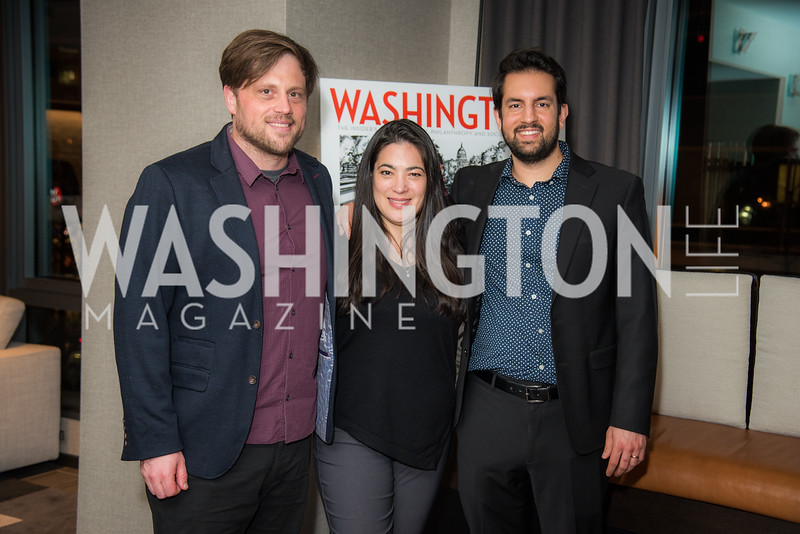 Eric Roy, Jay Newton-Small, Ryan Ross, Washington Life, Tech Issue Party, One Hill South, March 4, 2019, photo by Ben Droz.