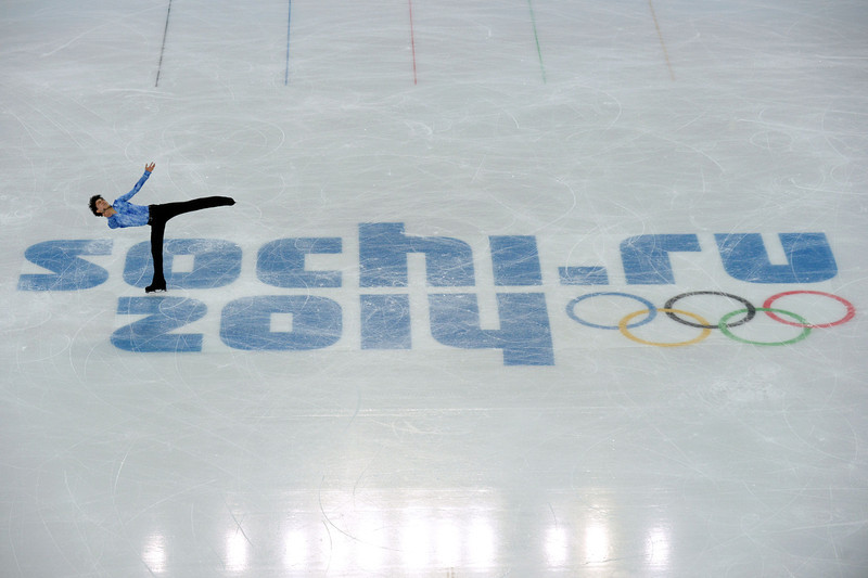 . Japan\'s Yuzuru Hanyu performs in the Men\'s Figure Skating Team Short Program at the Iceberg Skating Palace during the Sochi Winter Olympics on February 6, 2014.  (YURI KADOBNOV/AFP/Getty Images)