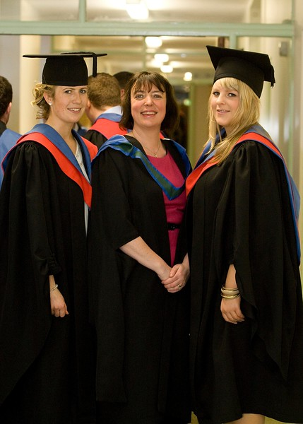 5/1/2012. News. Free to use image. Waterford Institute of Technology (WIT) Graduation. Pictured are Lorraine Keena, Ballycumber, Co Offaly, who graduated in Higher Certificate in Science in Agricultural Science, Rachel O'Down, Lecturer WIT, Niamh Ryan, Kilmeaden, Co Waterford who   graduated in Higher Certificate in Science in Agricultural Science. Photo Patrick Browne