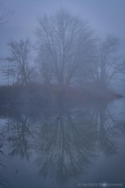 Misty reflection, near Snoqualmie
