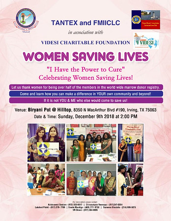 "TANTEX, FMIICLC, Videsi - ""Women Saving Lives"""