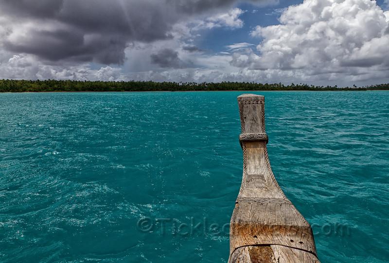 Approaching Akaiami Island