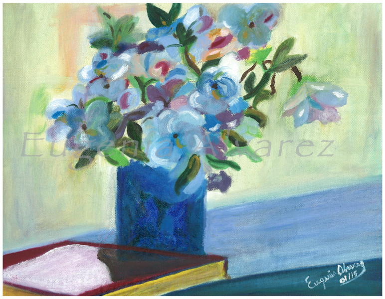 Flowers On a Vase. Original Oil On Canvas Painting  Fine Art Print from Oil On Canvas Painting Flowers Still Life Painting Art Oil On Canvas Wall Art