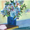 Flowers on a vase - Oil on Canvas painting